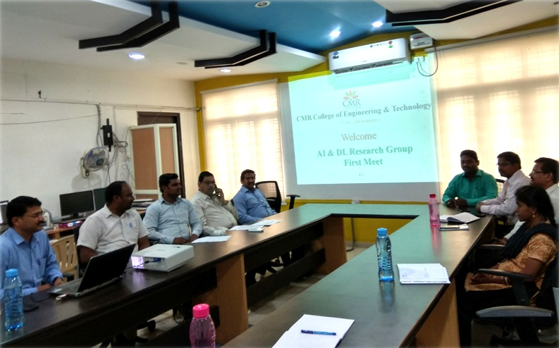 Research Group Meeting of CMR College of Engg. & Tech.