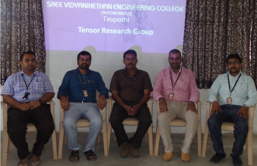 Research Group Meeting of Sree Vidyanikethan Engineering College
