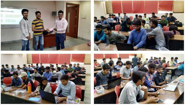 Gallery IoT and Drones Workshop at Galgotias University, Greater Noida 	April 26 to 27, 2019.