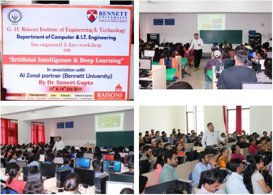 AI/ML Workshop at G. H. Raisoni Institute of Engineering &Technology, Pune 						July 13 to July 14, 2019.