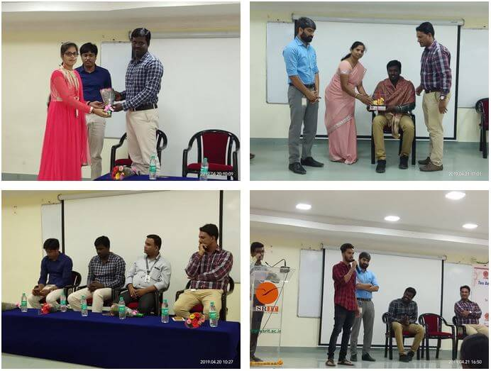 Gallery AI/ML Workshop at Srinivasa Ramanujan Institute of Technology, Andhra Pradesh 	April 20 to 21, 2019.