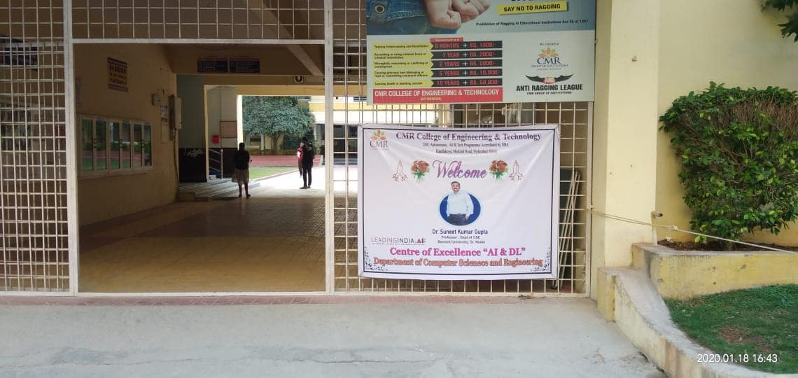 Gallery CMR College of Engineering Technology, Hyderabad, January 17 to January 18, 2020