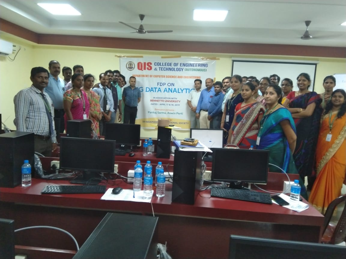 Gallery BigData Analytics Workshop at QIS College of Engineering and Technology, Ongole April 17 to 18, 2019.