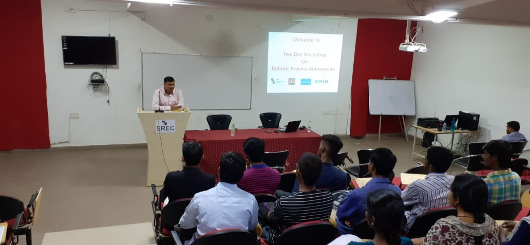 Robotic Processing Automation Workshop at SR Engineering College, Warrangal 							September 29 to September 30, 2019